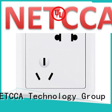 NETCCA Brand hotel office five bronze usb wall socket charger