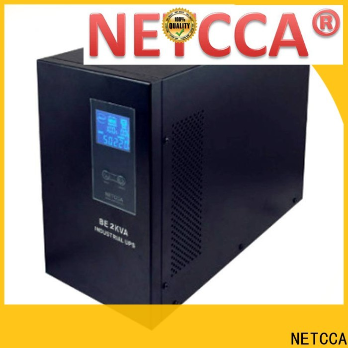 NETCCA lcd pure sine wave line interactive ups factory for network equipment