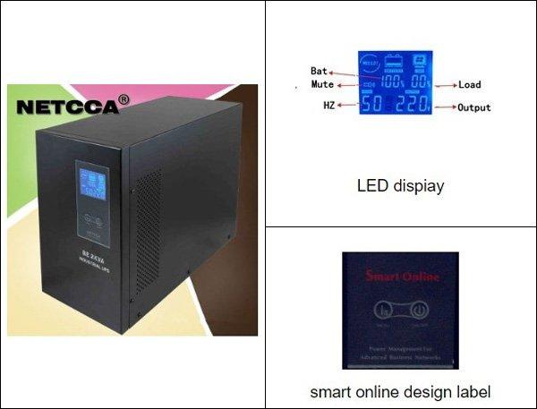 NETCCA-Find 3kva Online UPS Server Rack UPS from Netcca Sine Wave UPS