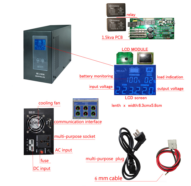 NETCCA-Find Custom Smart Online Inventer Sine Wave Offline UPS Netcca-7