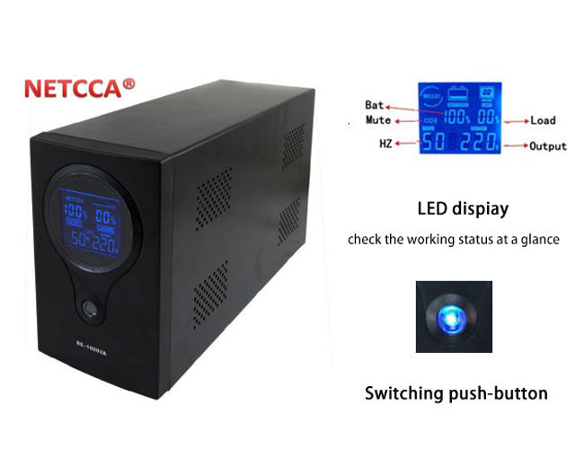 NETCCA-High-Quality Offline UPS Pure Sinewave UPS, Home Inverter