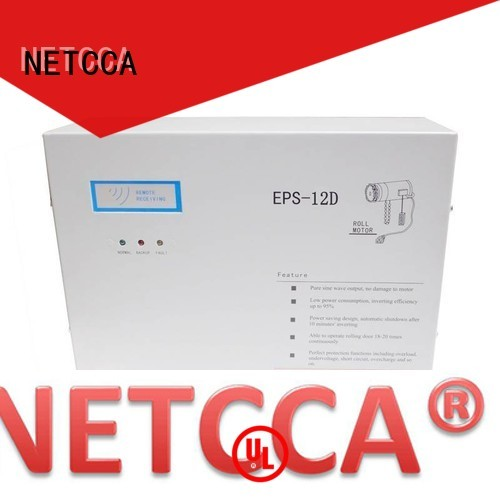 emergency system doorgate roller door battery backup motor NETCCA